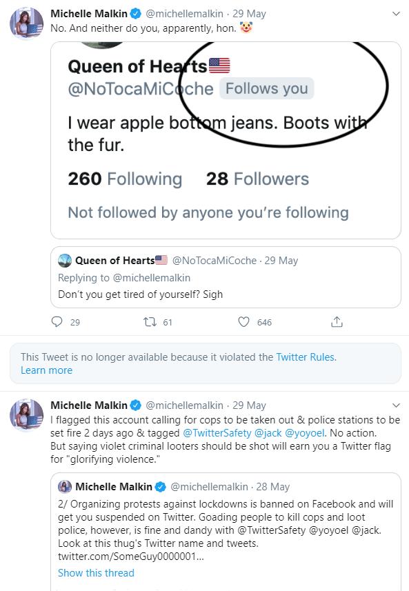 Malkin Deleted Tweet Twitter Timeline