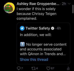 Goldenberg Twitter Chrissy Teigen