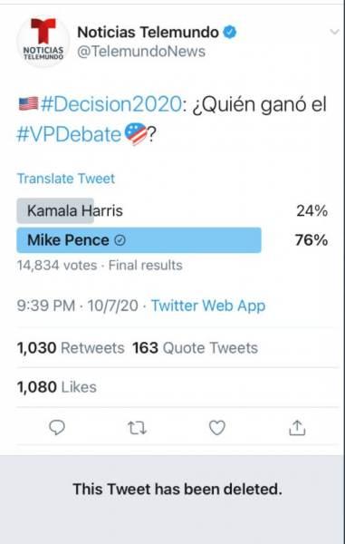 Pence/Harris Telemundo Poll