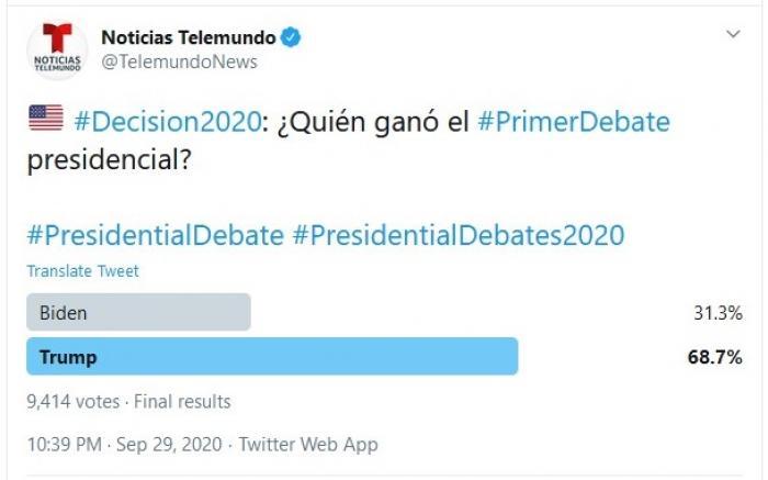 Trump/Biden Telemundo Poll
