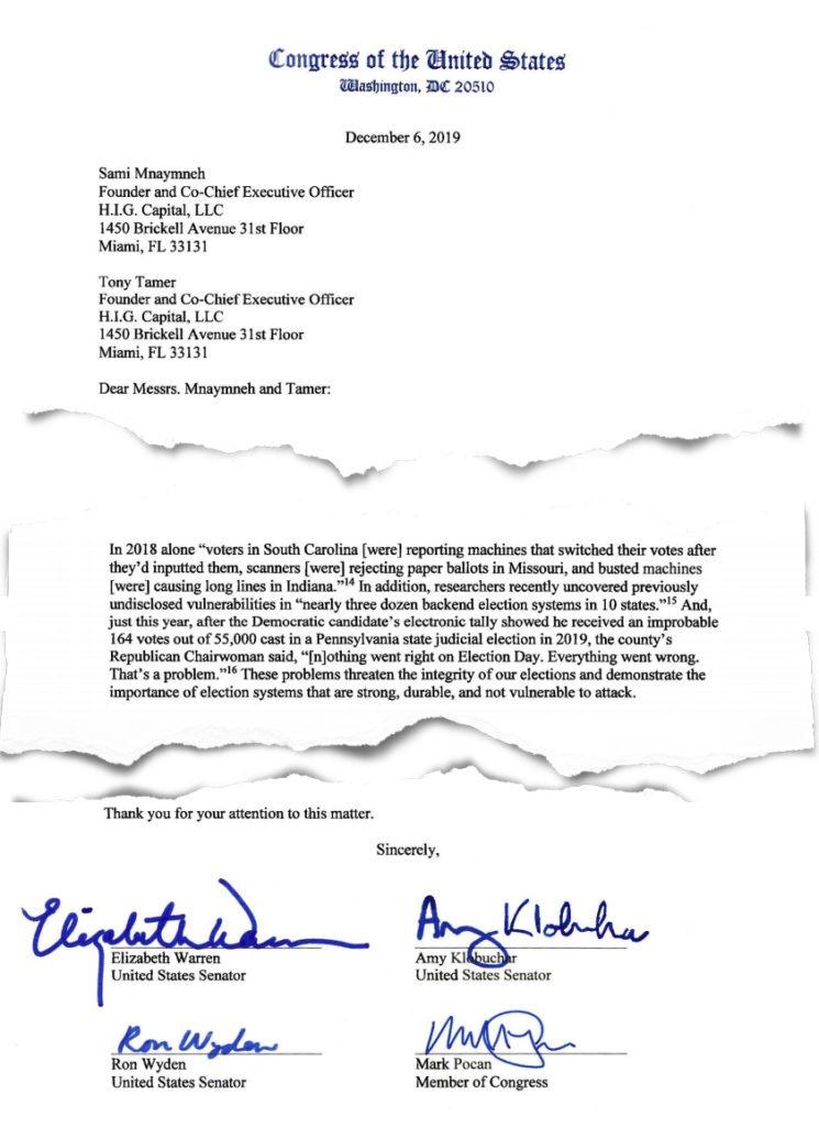 Warren, Klobuchar & Wyden Letter