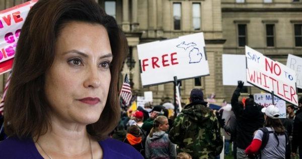 Gretchen Whitmer, COVID Protesters