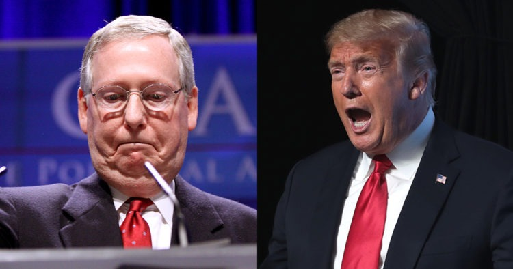 BREAKING: Trump Slams 'Dour, Sullen, And Unsmiling Political Hack' Mitch McConnell, Vows To Primary Establishment Republicans