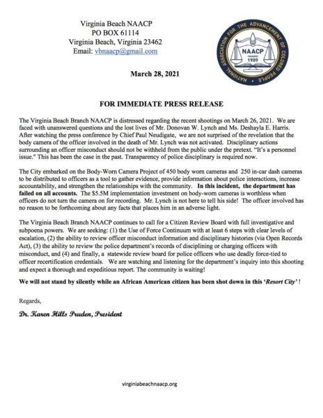 Virginia Beach Shooting NAACP Statement