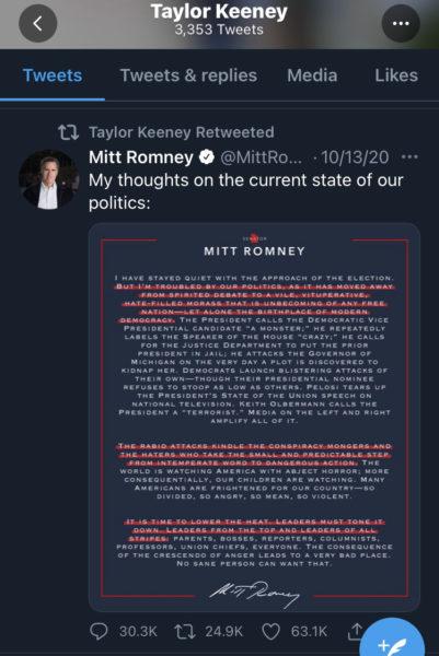 Taylor Keeney Mitt Romney