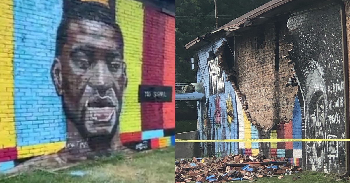 BREAKING: Ohio George Floyd Mural Destroyed After Being Struck By Lightning