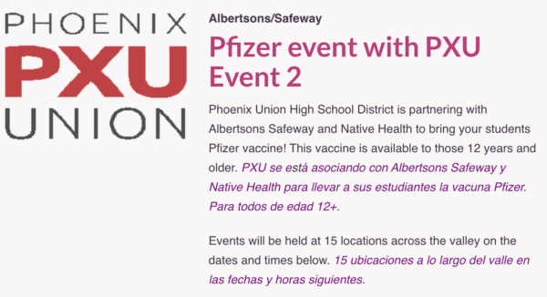 Arizona Schools Partner With Pfizer, Offer Free Backpacks To Any Child Who Gets Vaccinated 2